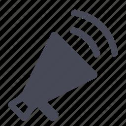 audio, megaphone, music, news, play, volume icon