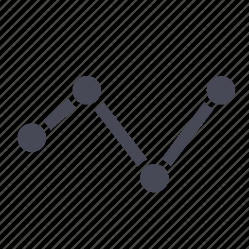 analytics, bar, chart, graph, line, statistics, stock icon