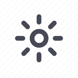 brightness, sun, sunny, warm, weather icon