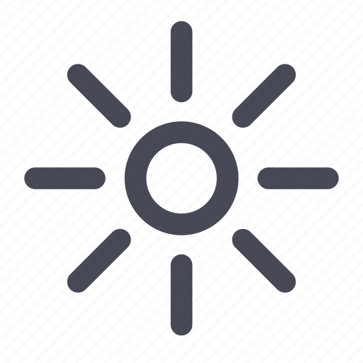 brightness, sun, sunny, weather icon