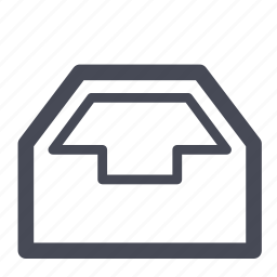 box, clipboard, inventory icon