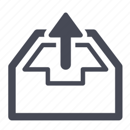 box, export, inventory icon
