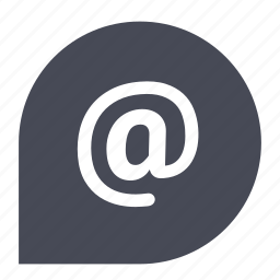 at, email, letter, mail, send, sign icon