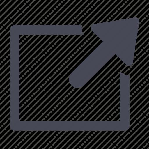 close, external, link, maximize, new, window, windows icon