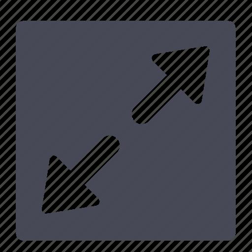 full, maximize, screen, window icon