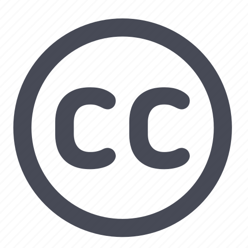 commons, copyright, creative, license icon