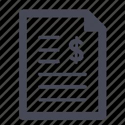 bill, invoice, purchase, receipt icon