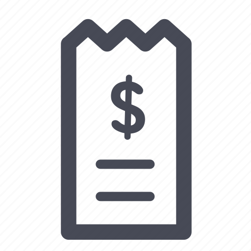 bill, invoice, pay, payment, receipt icon