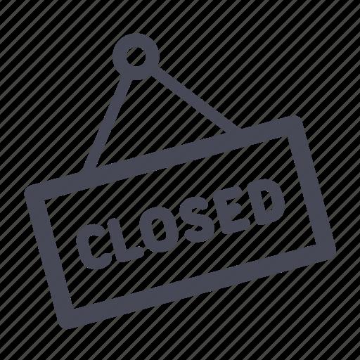 closed, shop, store icon