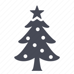 christmas, gift, new year, tree icon