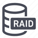 database, db, drives, raid icon