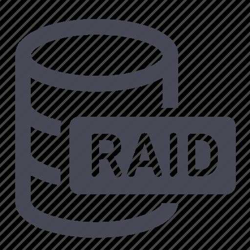 database, db, drives, raid icon