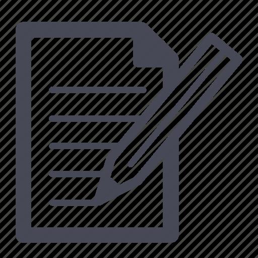 compose, document, edit, file, new, paper, write icon