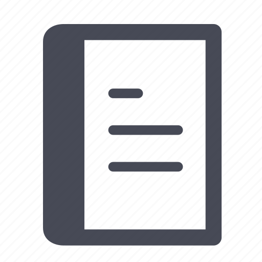 book, document, file, instructions, notebook, paper, reading icon