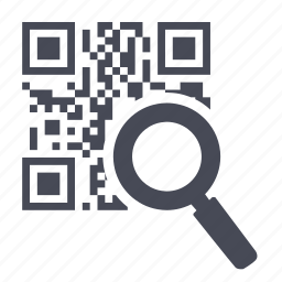 code, find, magnifying glass, qr, scan, search, zoom icon