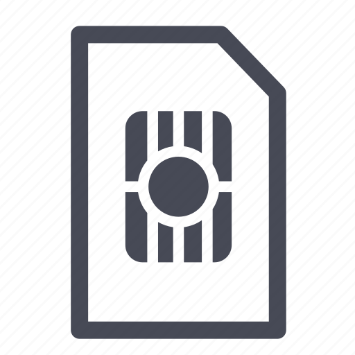 card, mobile, phone, sim icon