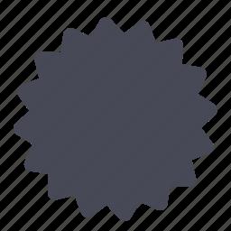 badge, shape, sticker icon