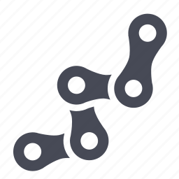 bicycle, chain, link icon