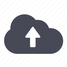 arrow, cloud, up, upload icon