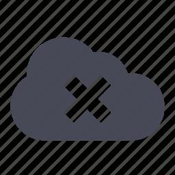 cloud, error, warning icon