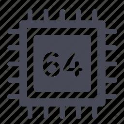 bit, chip, cpu, intel, microchip, processor, semiconductor icon