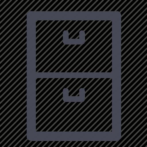Archive, files, box icon