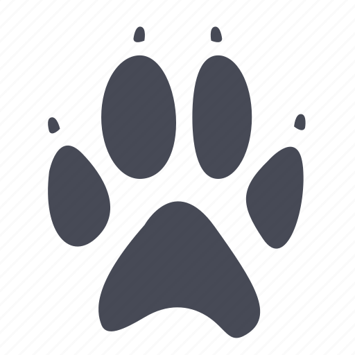 animal, bear, cat, dog, foot, pet, step icon