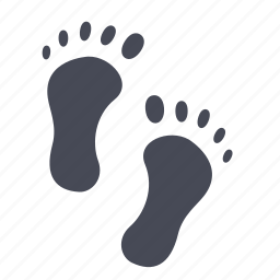 foot, footsteps, step icon