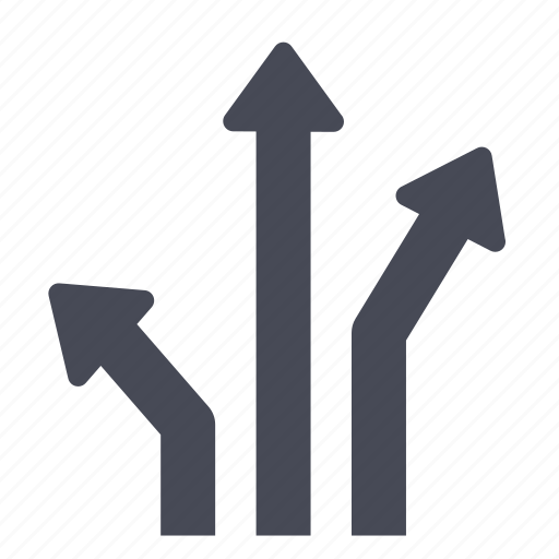 arrows, directions, navigation, path, sitemap icon