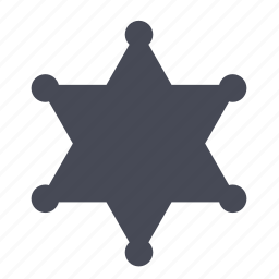 badge, enforcement, law, police, sheriff, star icon