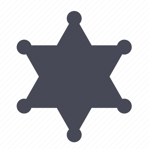 Badge, enforcement, law, police, sheriff, star icon - Download on Iconfinder