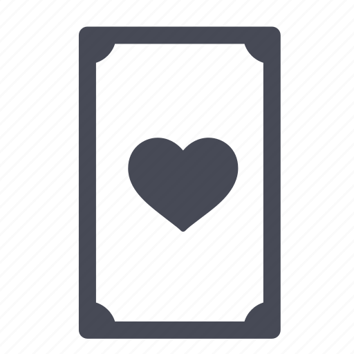 card, cards, hearts icon