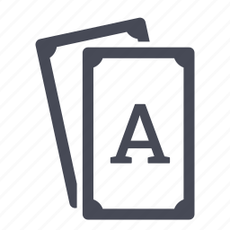ace, aces, card, cards, poker icon