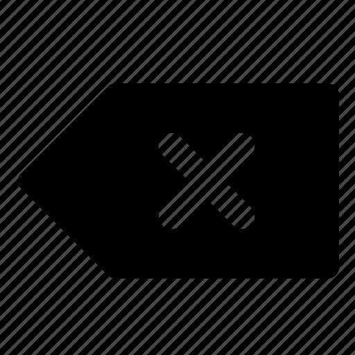 arrow, back, backspace, delete, previous, remove icon
