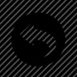 arrow, back, left, previous, un-do, undo icon