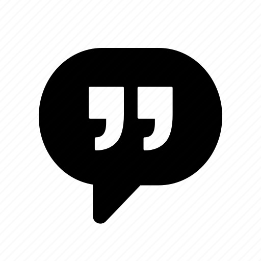chat, comment, conversation, message, quotation, quote, talk icon