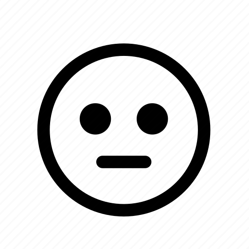 Emoticon, emotion, face, neutral, sad, smile, smiley icon ...