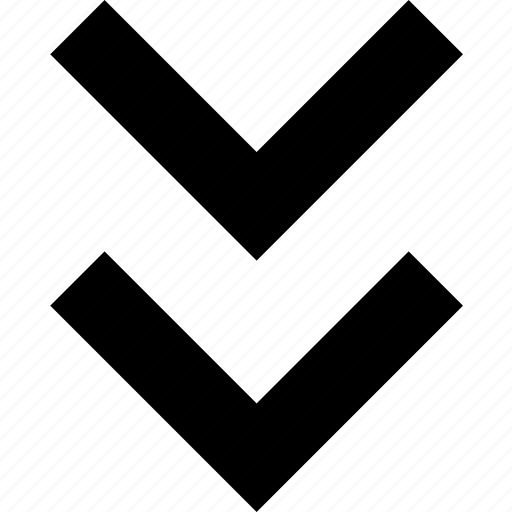 arrow, direction, double, down, impulse, motion icon