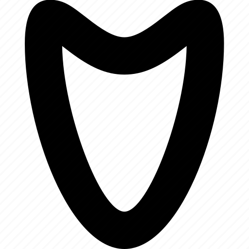 arrow, direction, down, organic, pointer, smooth icon