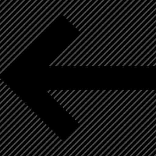 arrow, course, direction, left, pointer icon