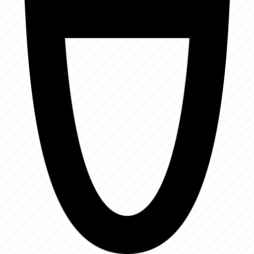 bowl, geometric, half, organic, oval icon