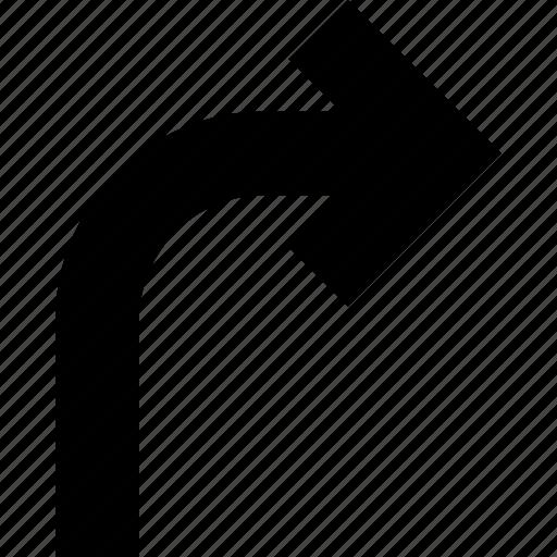 arrow, corner, course, direction, right icon