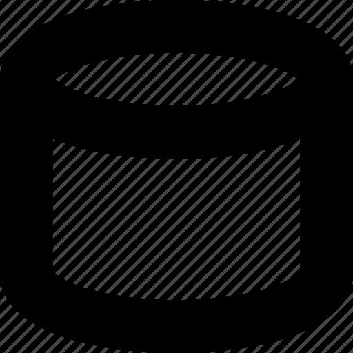 cylinder, dimension, geometric, object, symmetric icon