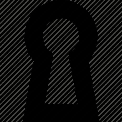 access, door, hole, key, lock icon