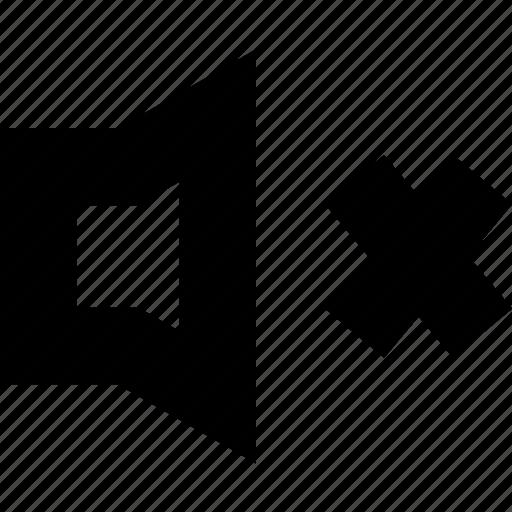 audio, music, mute, sound, speaker, voice, volume icon