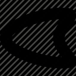arrow, direction, left, organic, pointer, smooth icon