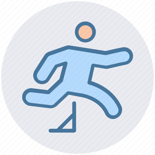 barrier, champion, man, obstacle, olympic, over, running icon