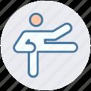 exercise, fitness, judo, karate, karate kick, kick, martial arts icon