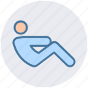 core, exercise, fitness, human, man, stretching, yoga icon