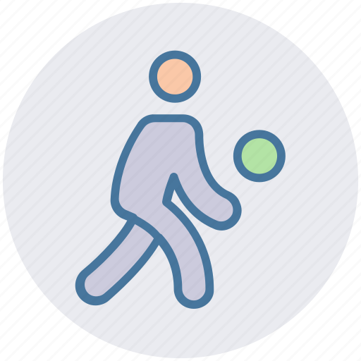 Ball, football player, player, soccer player, sportsman, volleyball, volleyball player icon - Download on Iconfinder